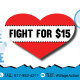 Fight for $15: Valentine's Day Visibility Action at South Bay Shopping Center